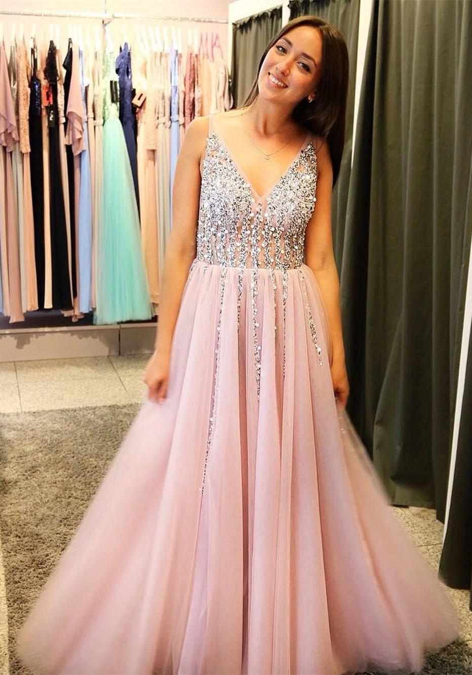 da513ebd22f Light Pink Prom Dress