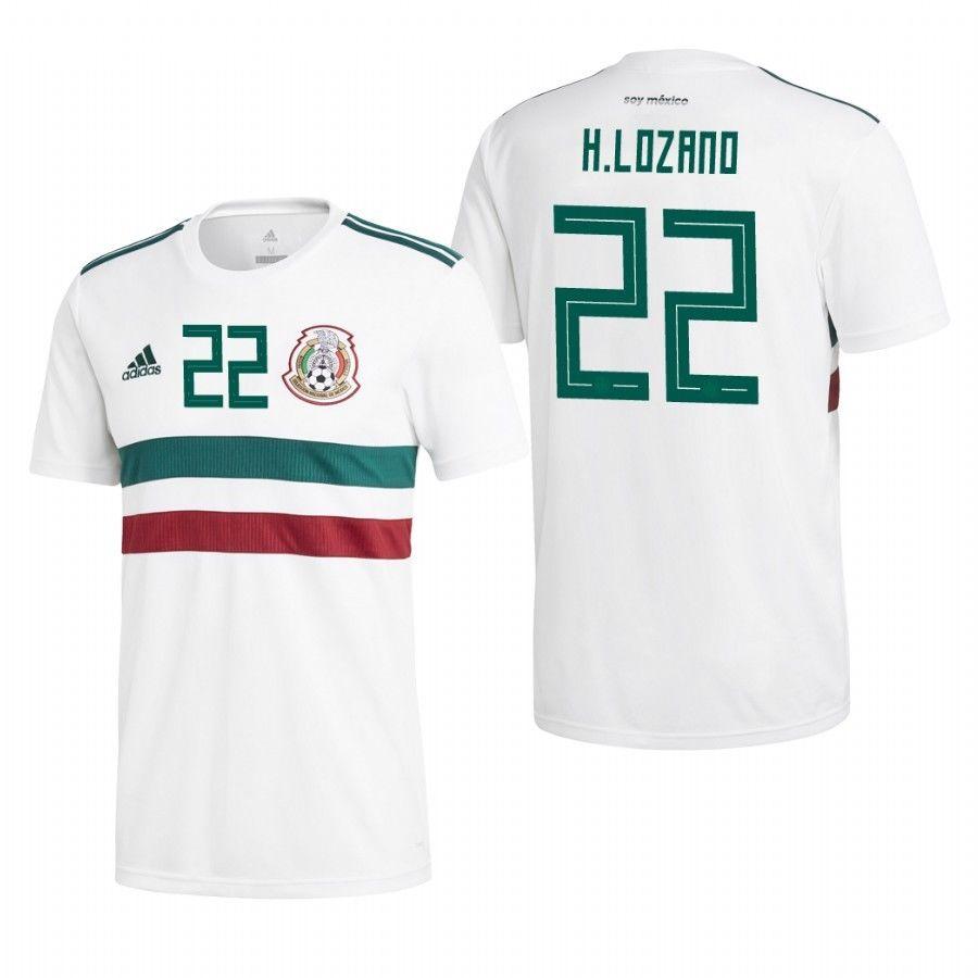 039f53132 H Lozano #22 Mexico Jersey 2018 National Team Home Soccer Shirt ...