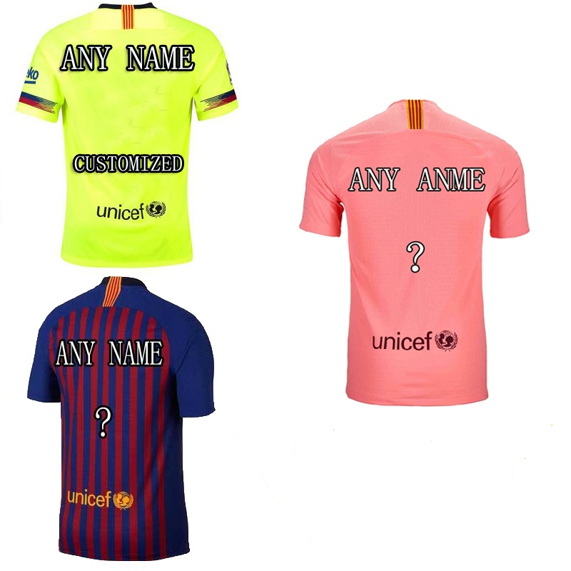 new product 1479c de384 Barcelona FC Men 2018/19 Custom Name Shirt