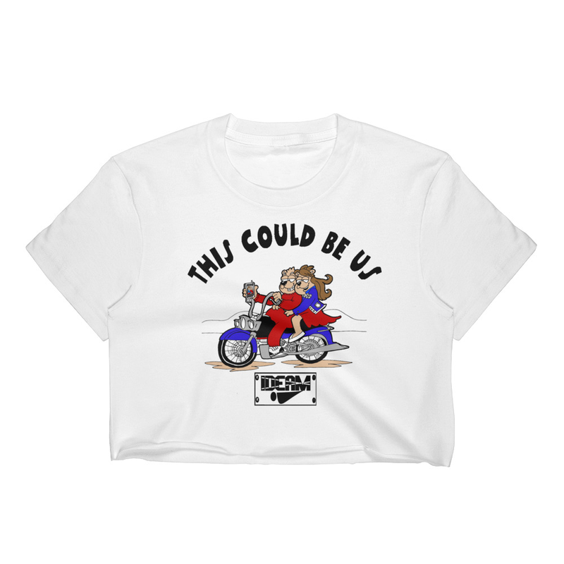13ff41902ceb5b This Could Be Us Love Bears On Bike T-Shirt Women s Crop Top on Storenvy