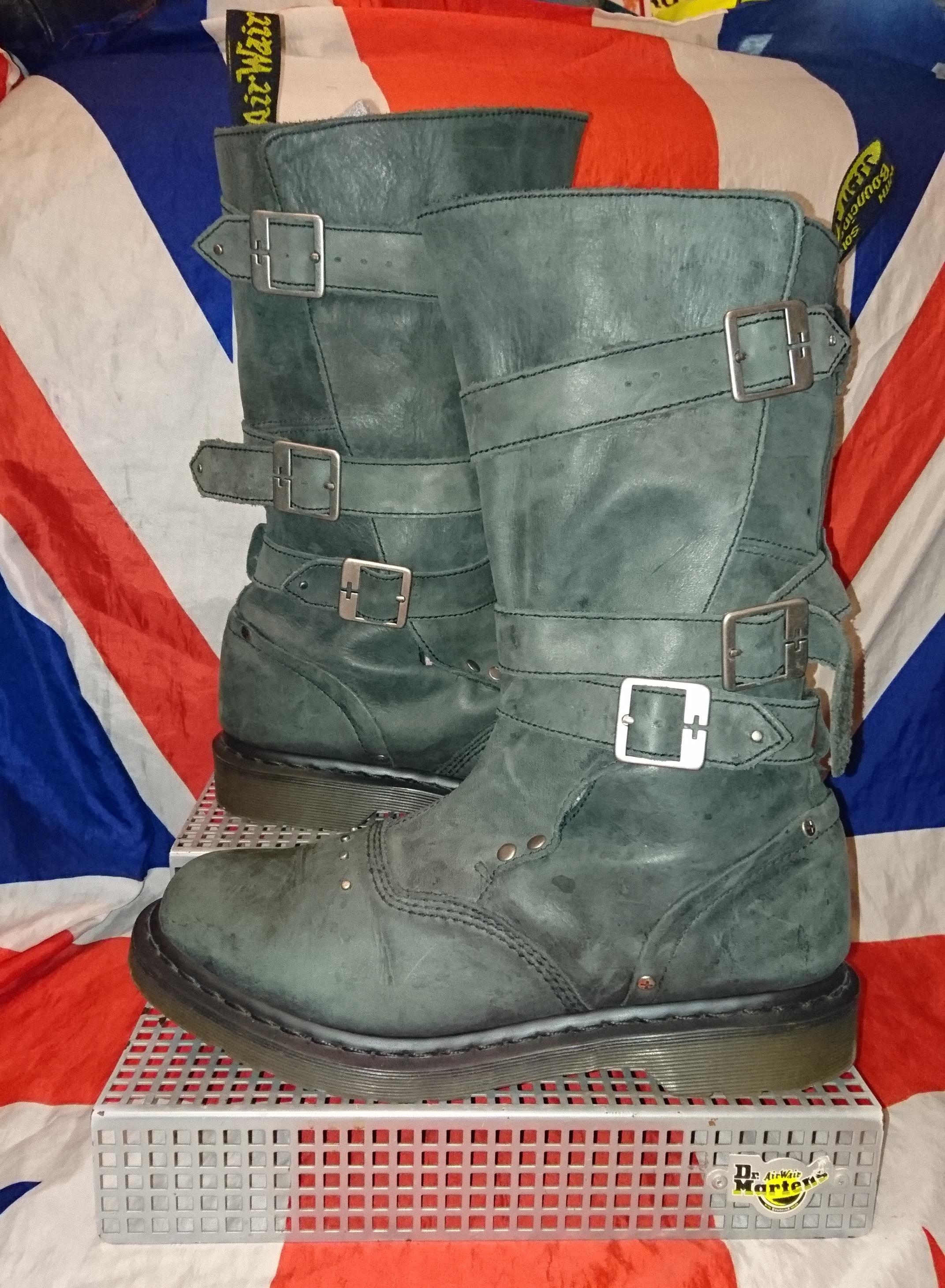 e27614975 Jara Black Buckle Dr Doc Martens Biker Boots - UK 8*EU 42*USL 10 ...
