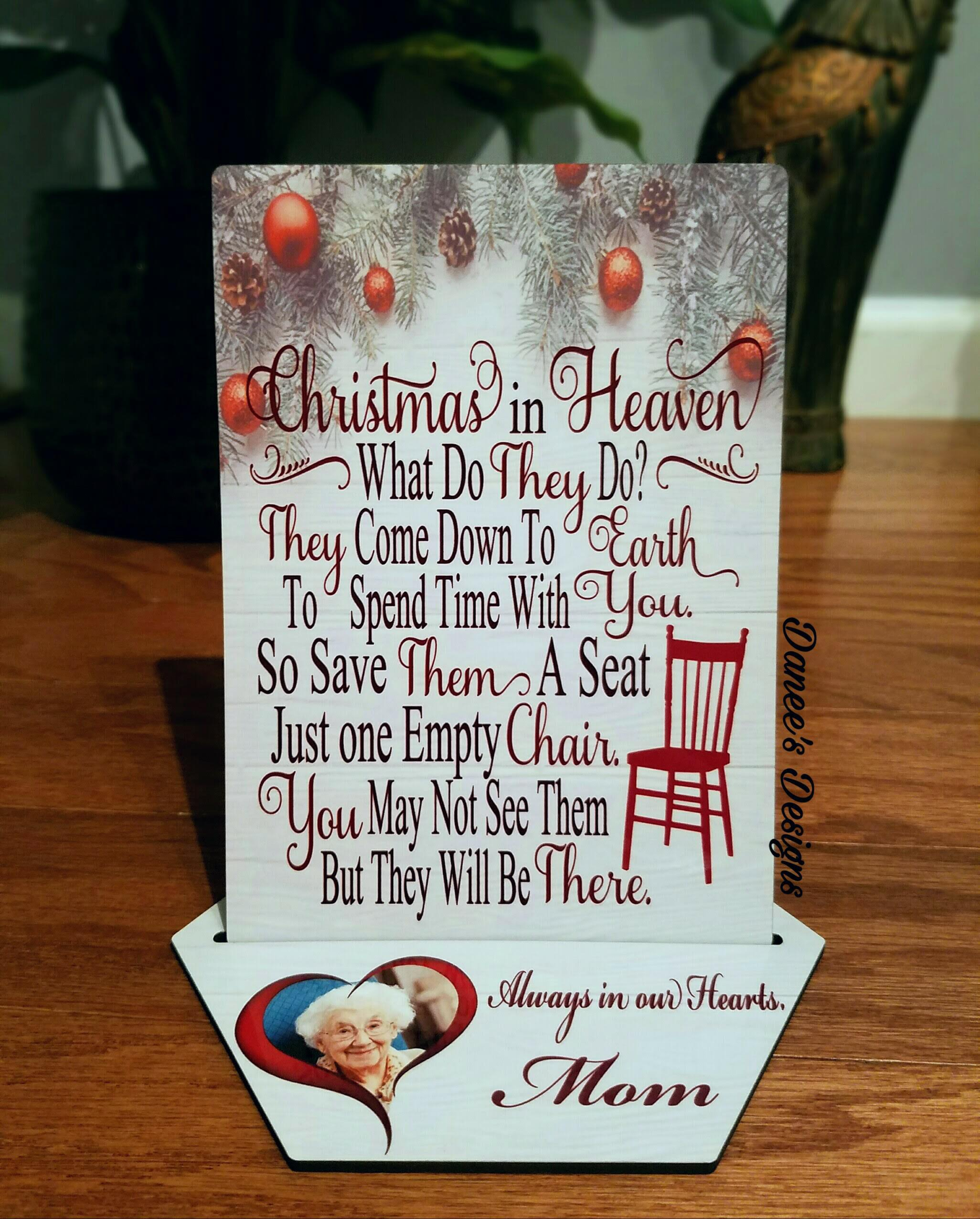 Christmas In Heaven.Christmas In Heaven Plaque From Danee S Designs