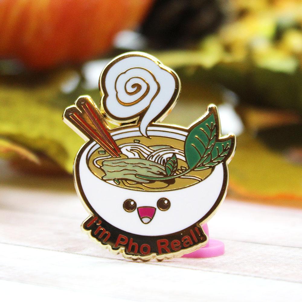 Cute Pun Pho Soup Enamel Pin Sold By Kimchi Kawaii On Storenvy