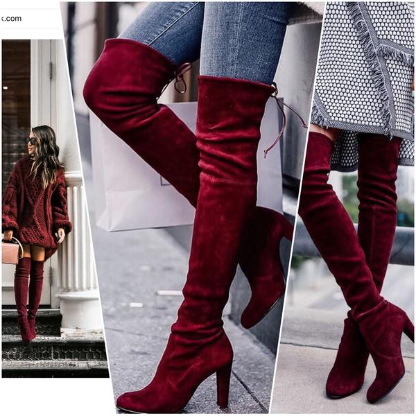 ff59ca7fb540 ... Fashion New Burgundy women boots cheap martin boots hot H5650 -  Thumbnail 4