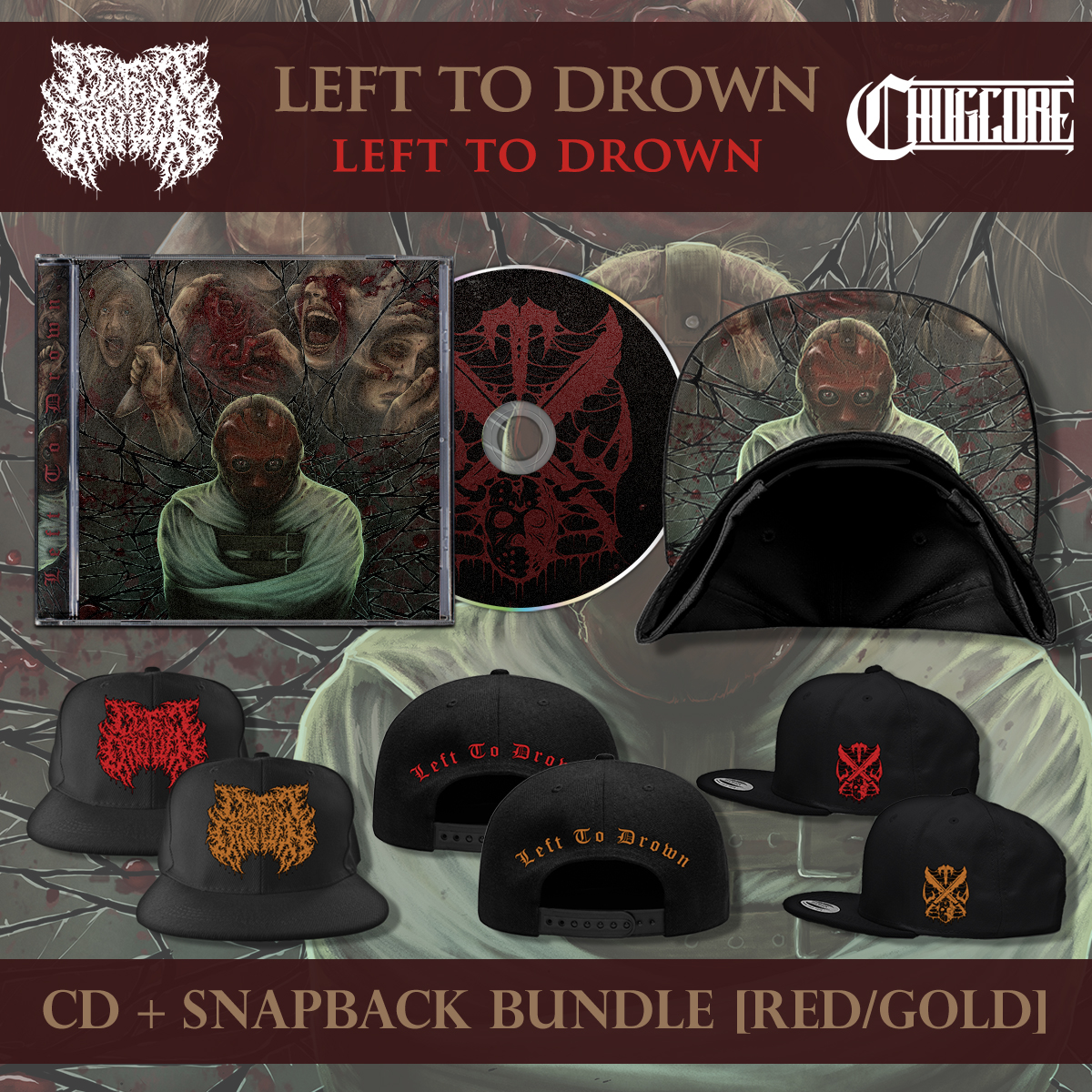 30d604a5661a5 Left To Drown - Snapback + CD · Chugcore · Online Store Powered by ...