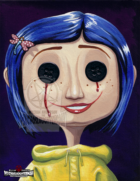 Button Eyes Coraline A4 Print Psychoslaughterman Online Store Powered By Storenvy