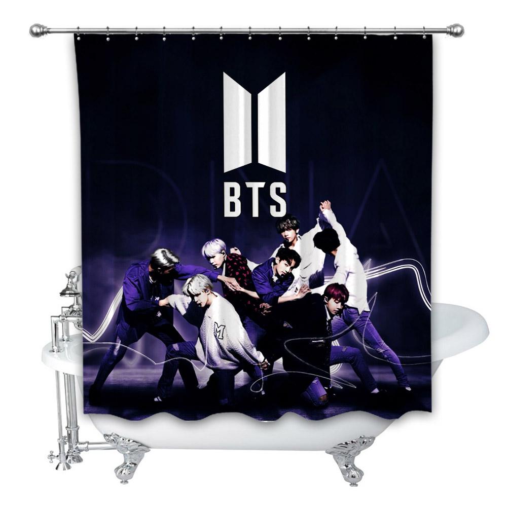 New Bts Army Custom Shower Curtain 100 Polyester On Storenvy