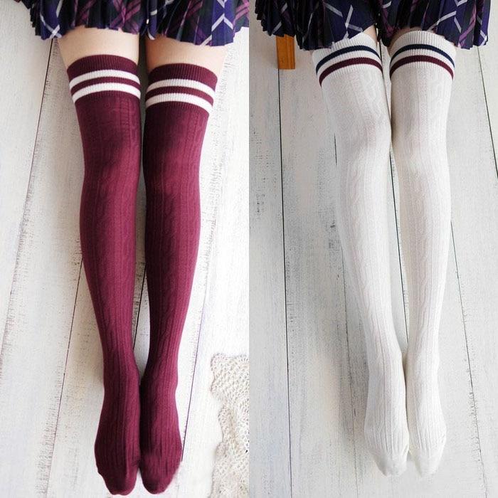 5220c4773 Kawaii Harajuku Cotton Over the Knee Socks on Storenvy