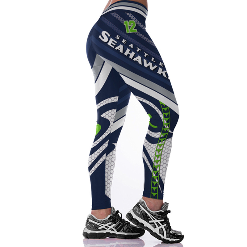 029ad2eb Seattle Seahawks Sports and Fitness Workout Football Leggings for Women