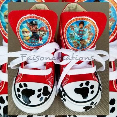 527bb16af266b3 Kids Custom Redskins Converse Size 2 · FaisonCreations · Online ...