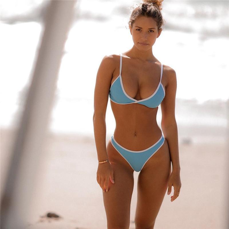 21fa2678f6155 Brazilian Bandeau Bikini Suits Criss-Cross Halter Swimsuits 2 Piece String  Bathing Suits on Storenvy
