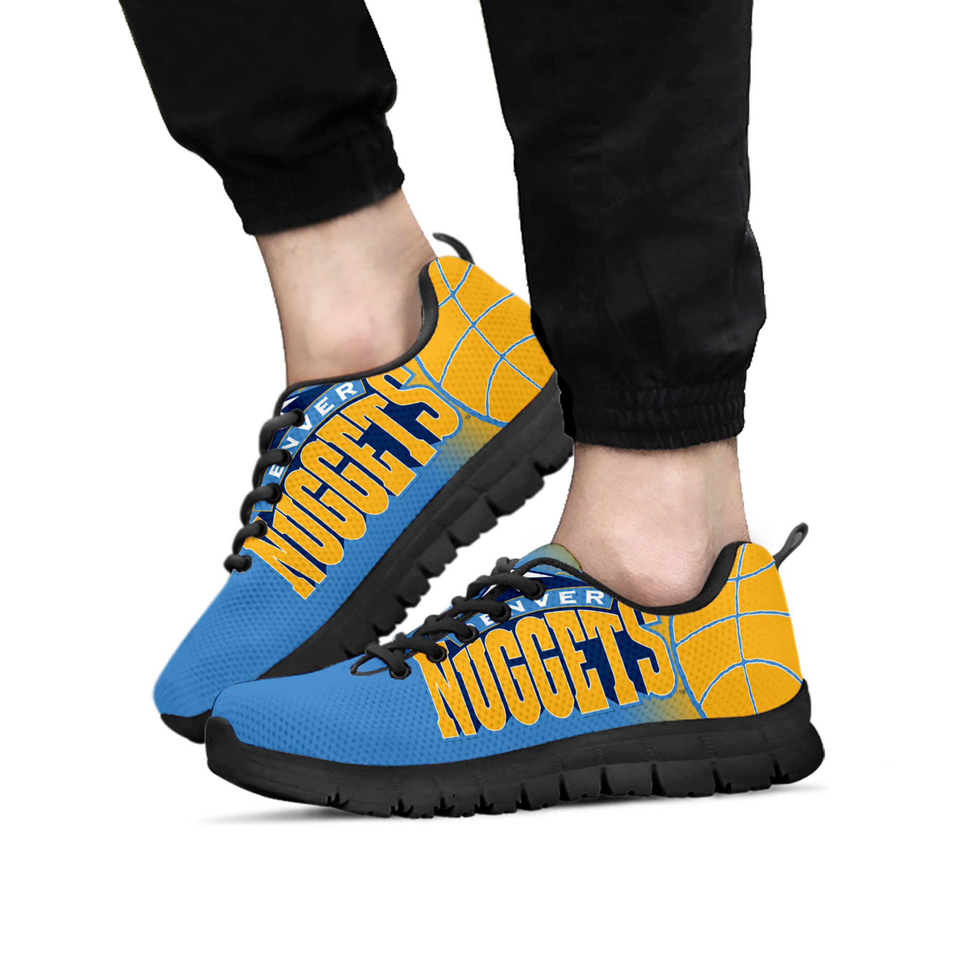 7baf1c44149d3 Denver Nuggets fan custom unofficial running shoes/sneakers/trainers -  ladies, Mens, Kids sizes Fan, Collector, basketball gift