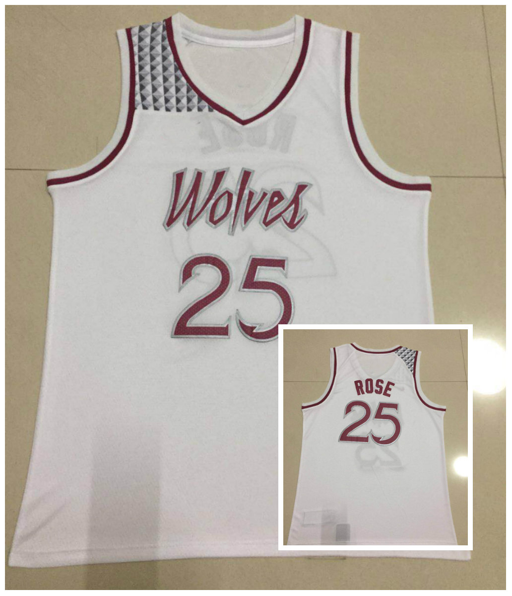 361e20a63 2019 Men s Minnesota Timberwolves  25 Derrick Rose Playoffs Basketball  Jersey
