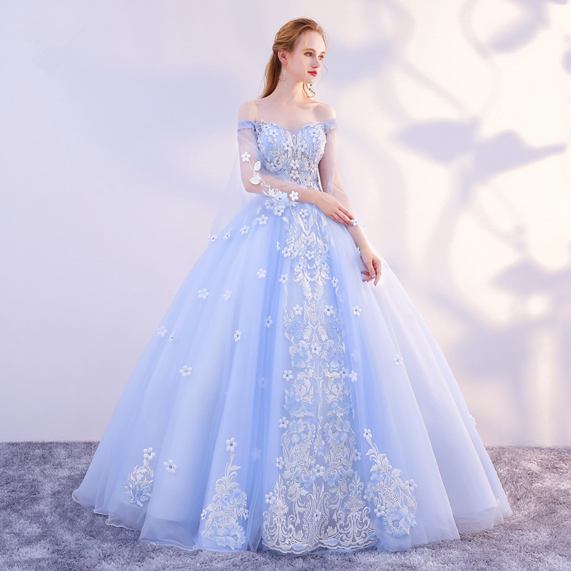 long princess blue gown