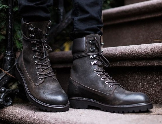 a3ea300628b Handmade Men black Military boots, Men black high ankle combat boots, Men  boots from leatherworld2014