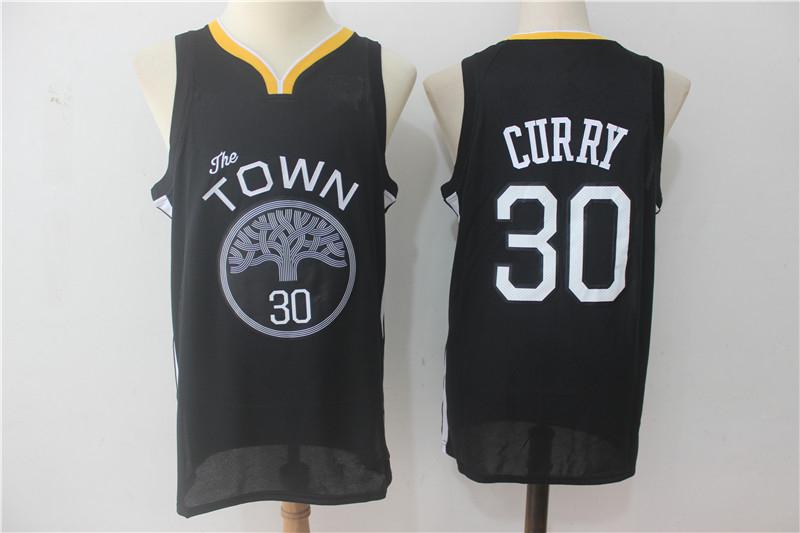 df9559c0c Men s Golden State Warriors 30 Stephen Curry Black Basketball Jersey ...