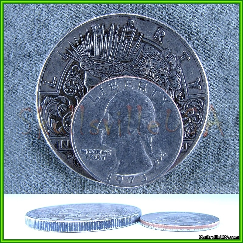 1922 Hobo Liberty Peace Dollar - Rare Fantasy Collectible Skull Coin with  Free Case from SkullsvilleUSA