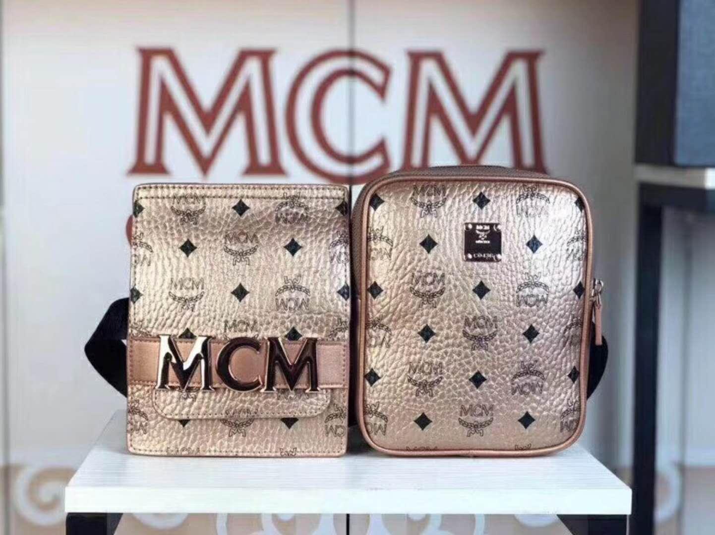 84cc77855c30 MCM Stark Double Logo Belt Bag In Rose Gold · Jokerbeauty · Online ...