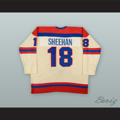 67f49422e 1977-78 wha bobby sheehan 18 indianapolis racers white hockey jersey