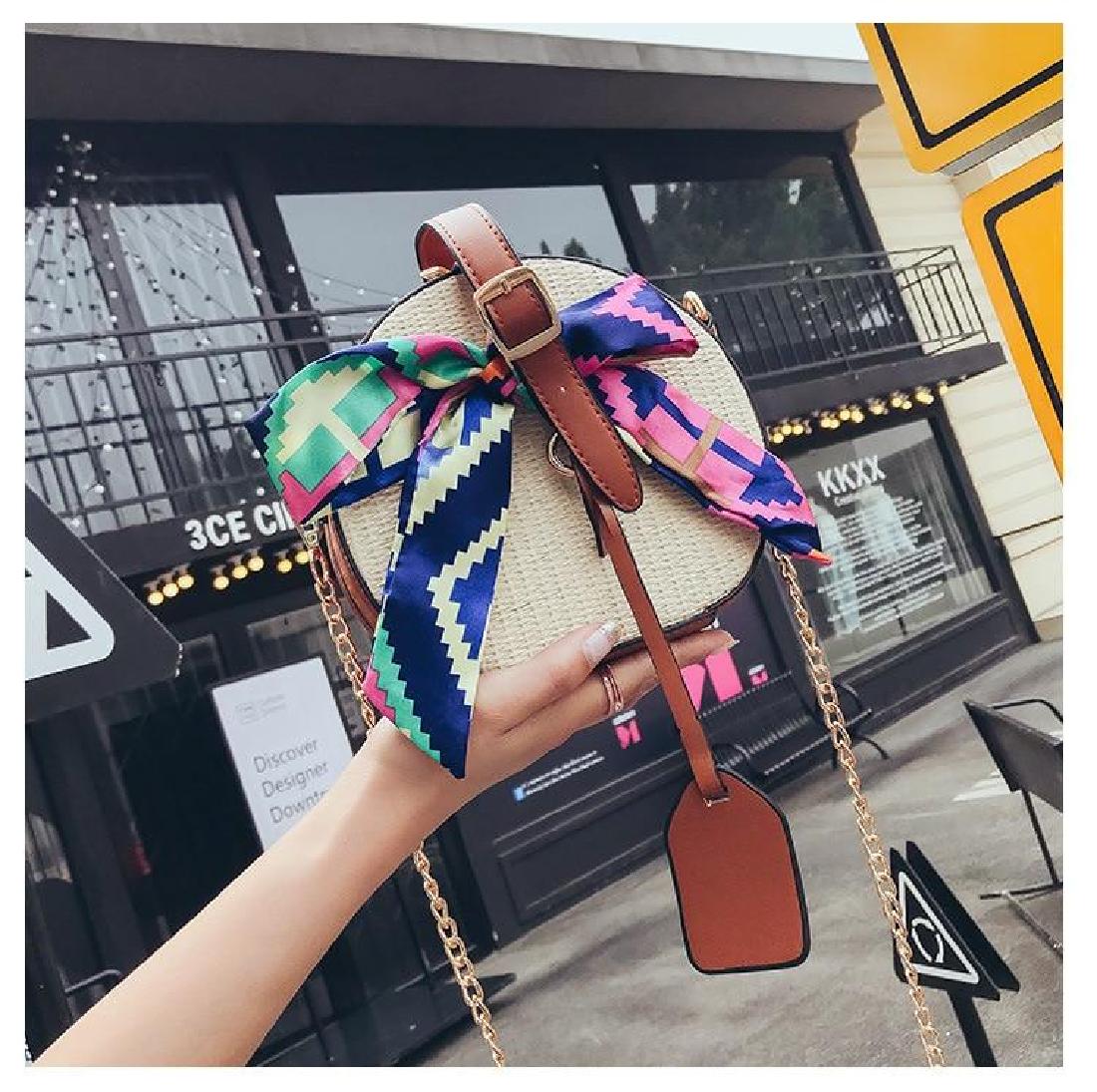 2969e0fd3c89 ... Bag STRAW shoulder tote bag Rattan Woven Beach Handmade high quality  100% pure durable natural