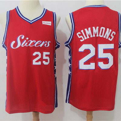 5ff602a7102 Men s philadelphia 76ers ben simmons fanatics branded red fast break  replica jersey - statement edition