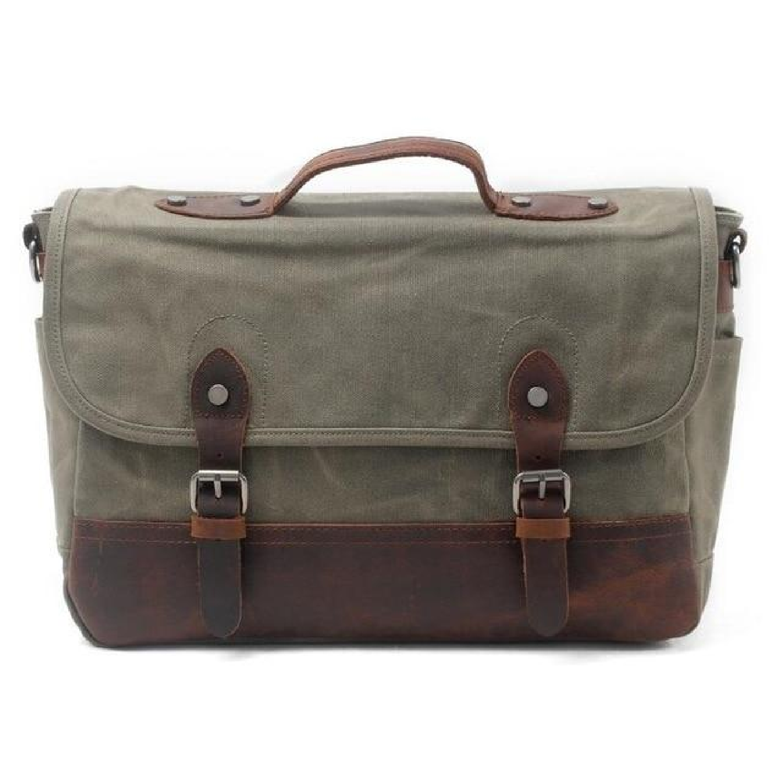 9f823938a2 Bag Messenger Vintage Waterproof Canvas 15 6 Leather Waxed Mens Genuine  Inch Shoulder Laptop Men Bags