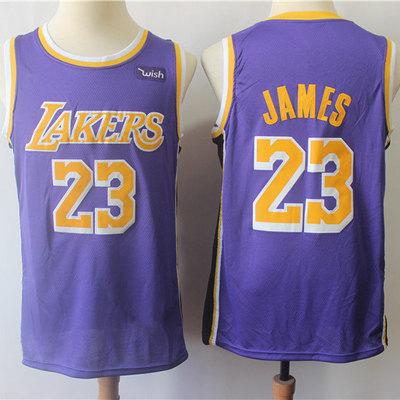 cfe0ae1c4f3 Men los angeles lakers lebron james fanatics branded purple 201819 fast  break replica jersey – statement