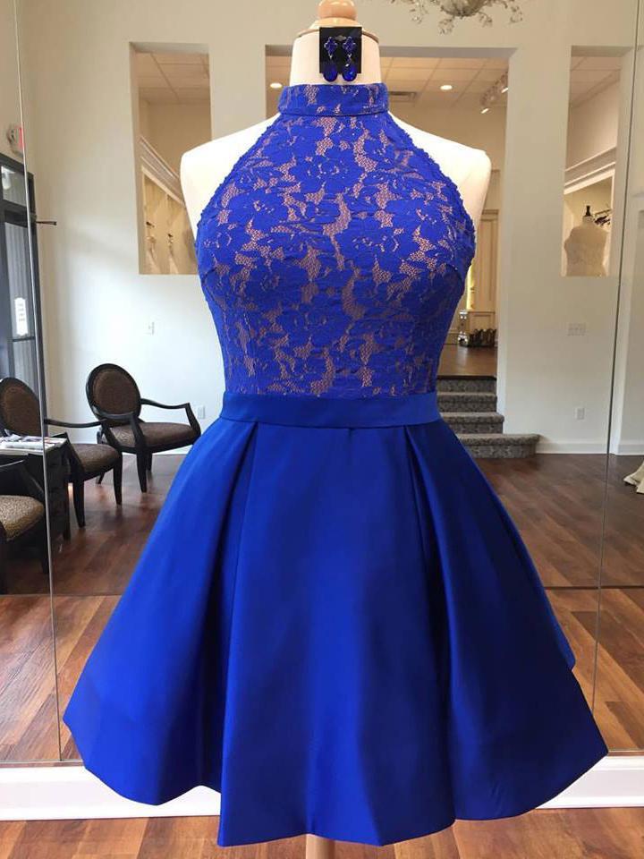 b1b871a1f Homecoming Dress, Blue Homecoming Dress, 2019 Prom Dress, A-Line Homecoming  Dress, Prom Dress Lace on Storenvy