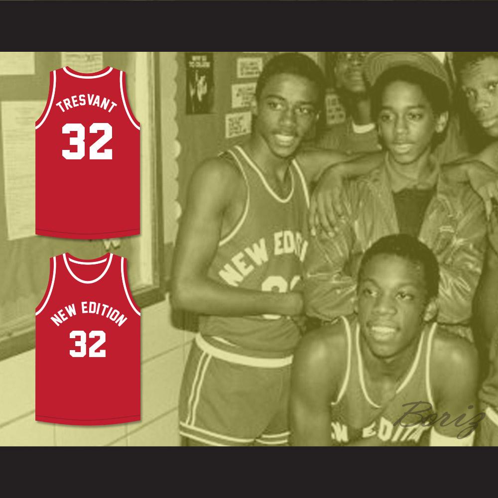 85ce11027724 ... Ralph Tresvant 32 New Edition Red Basketball Jersey - Thumbnail 2 ...