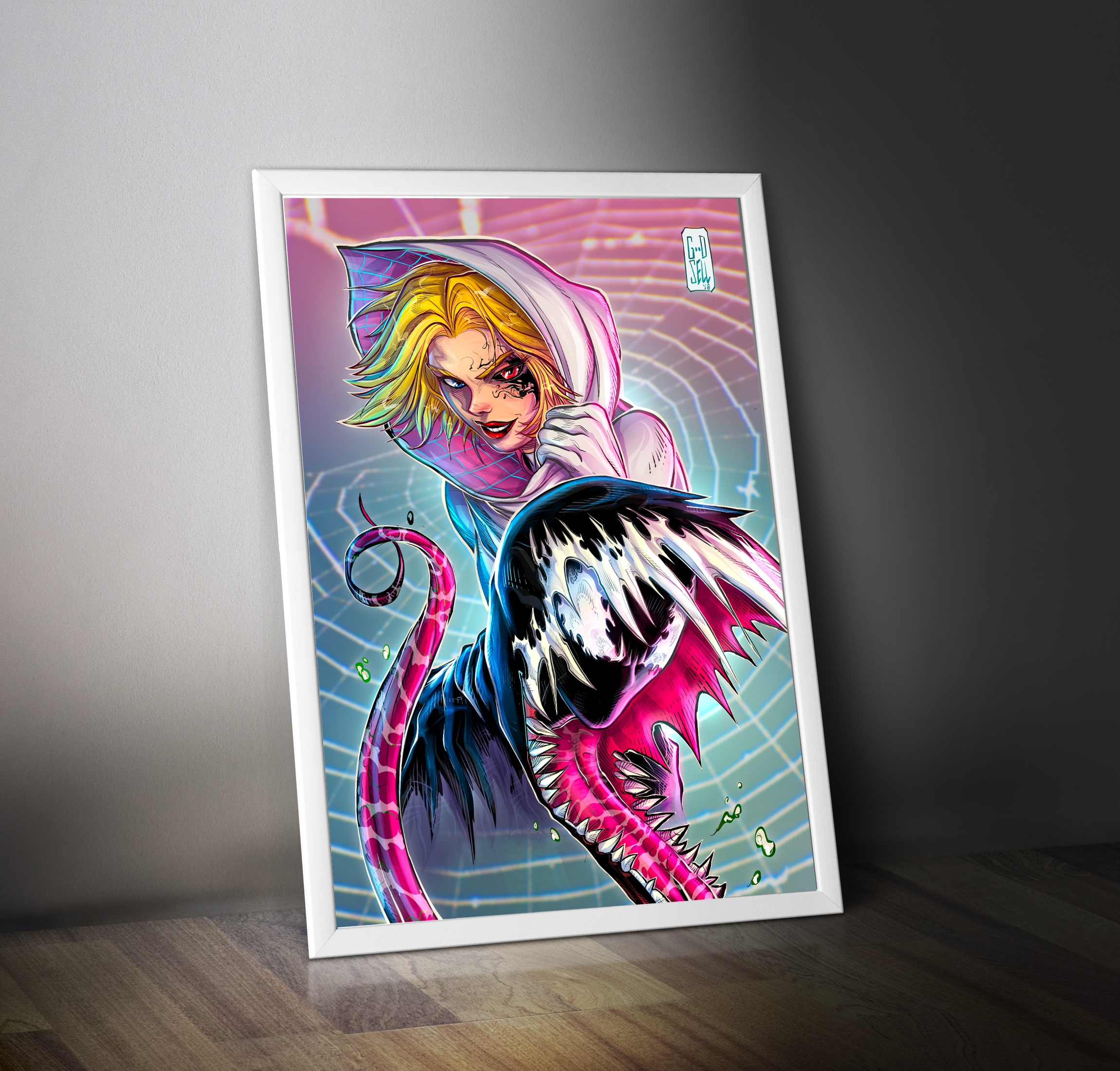 SPIDERMAN Miles Morales Spider Gwen POSTER Print Marvel Wall Art Prints Into the