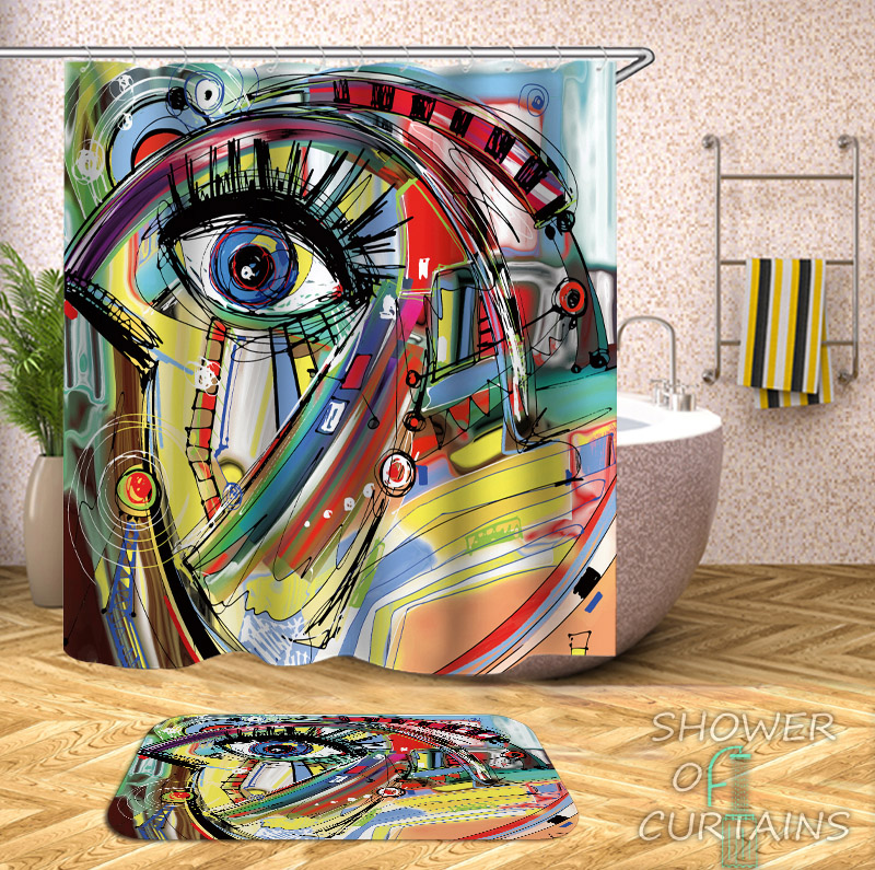 Art Painting Picasso Shower Curtain