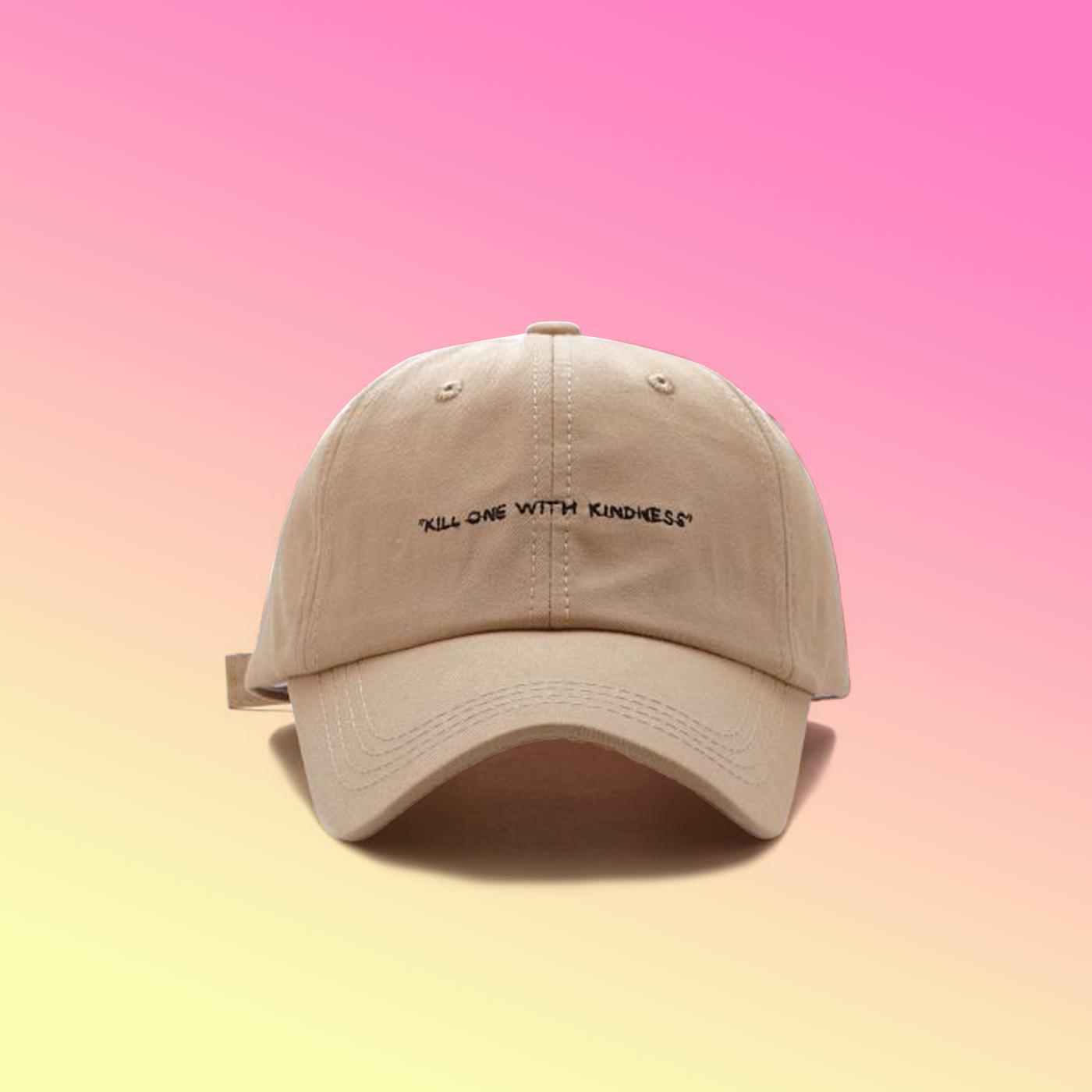 cbfdfb41ec8 KILL ONE WITH KINDNESS BASEBALL CAP KHAKI · soldrelax · Online Store ...