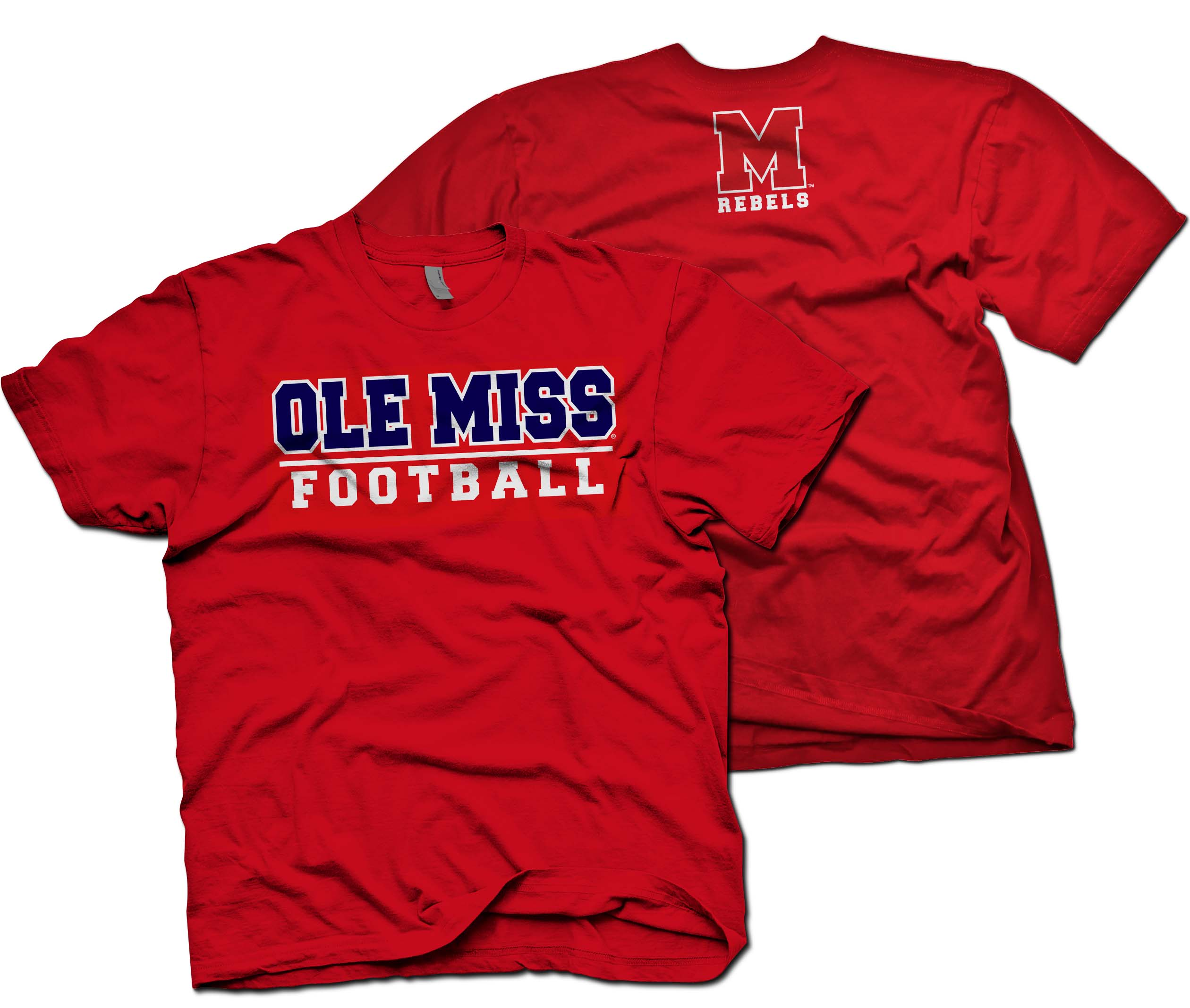 quality design 484b0 48811 Ole Miss Football-Red from Oxford Printwear