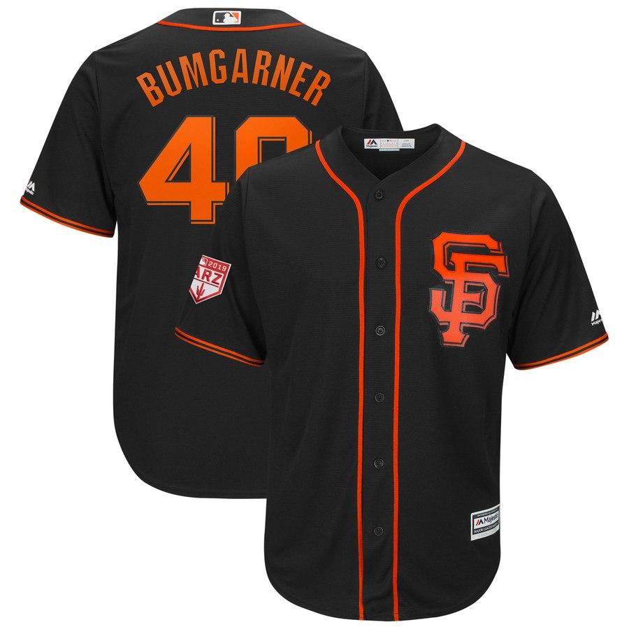 1e3d6b1b073 Men s San Francisco Giants Madison Bumgarner Majestic Black 2019 Spring  Training Cool Base Player Jersey