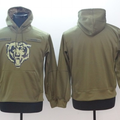 Men s chicago bears olive salute to service sideline therma performance pullover  hoodie - green - Thumbnail 977aa99dd