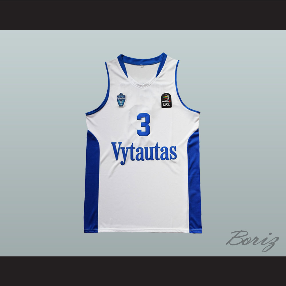 bc6e03a2dd01 LiAngelo Ball 3 Lithuania Vytautas White Basketball Jersey ...