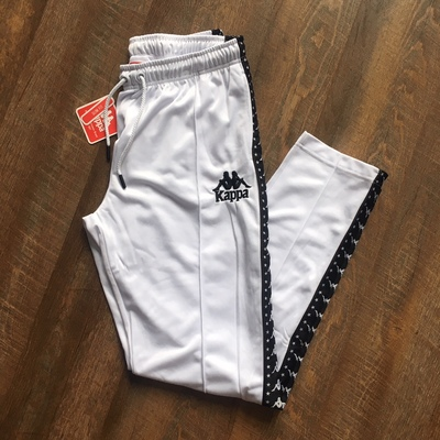 2e89c798dbc71 Kappa  Men s White Black Track Pants from Stush Fashionista