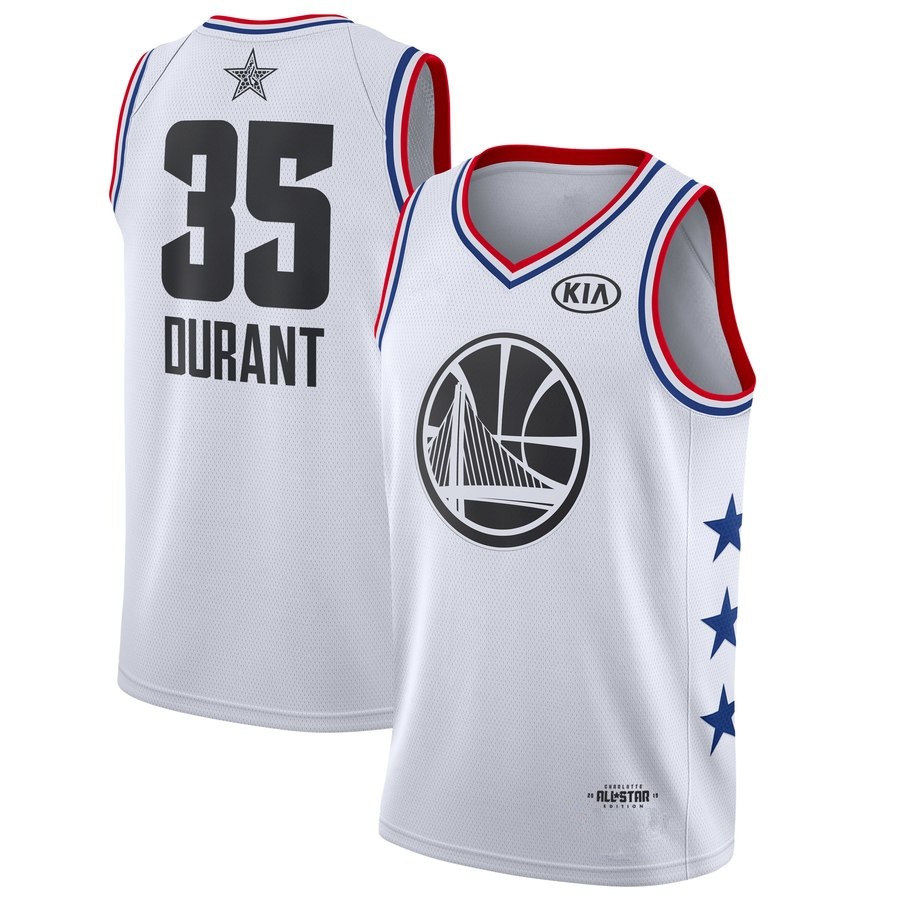 2385aa2fe3c Men s Golden State Warriors Kevin Durant White 2019 All-Star Game Finished  Swingman Jersey