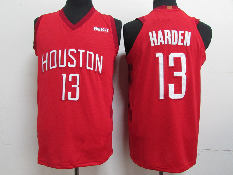 b905cfcb68d Men s Houston Rockets 13 James Harden Red 201819 Player Basketball Jersey -  Icon City Edition
