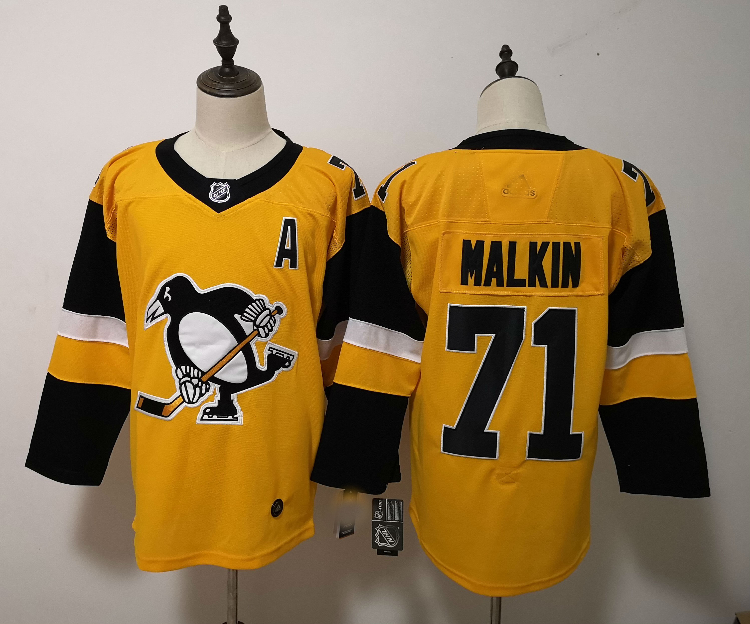 huge discount 9d648 14fad 2019 Kids NHL Pittsburgh Penguins #71 Evgeni Malkin Authentic Player Jersey  from Zamboni