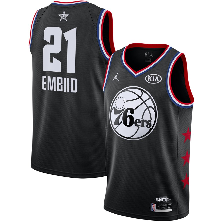 20d2c02d9 2019 All-Star Philadelphia 76ers  21 Joel Embiid Basketball Jersey ...