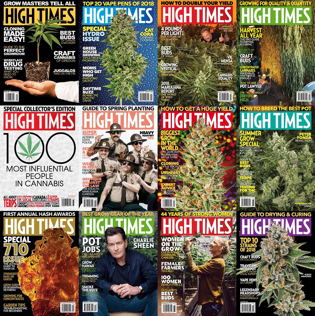 High Times - 2018,2017,2016 Full Year Issues [PDF]