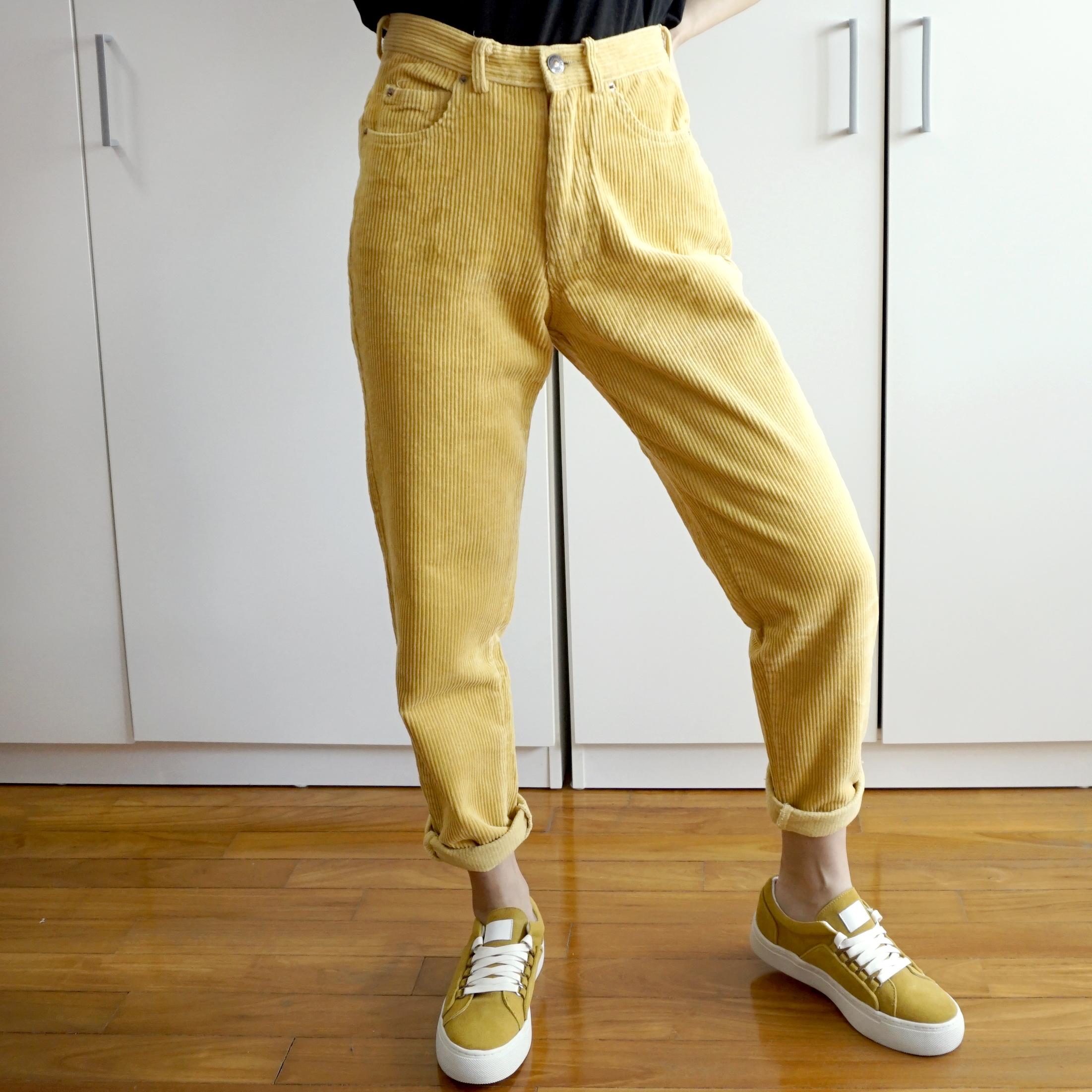 cf39e868b3a Corduroy Mom Jeans (Yellow) on Storenvy