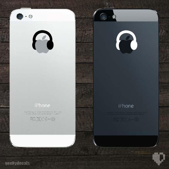 iphone apple stickers