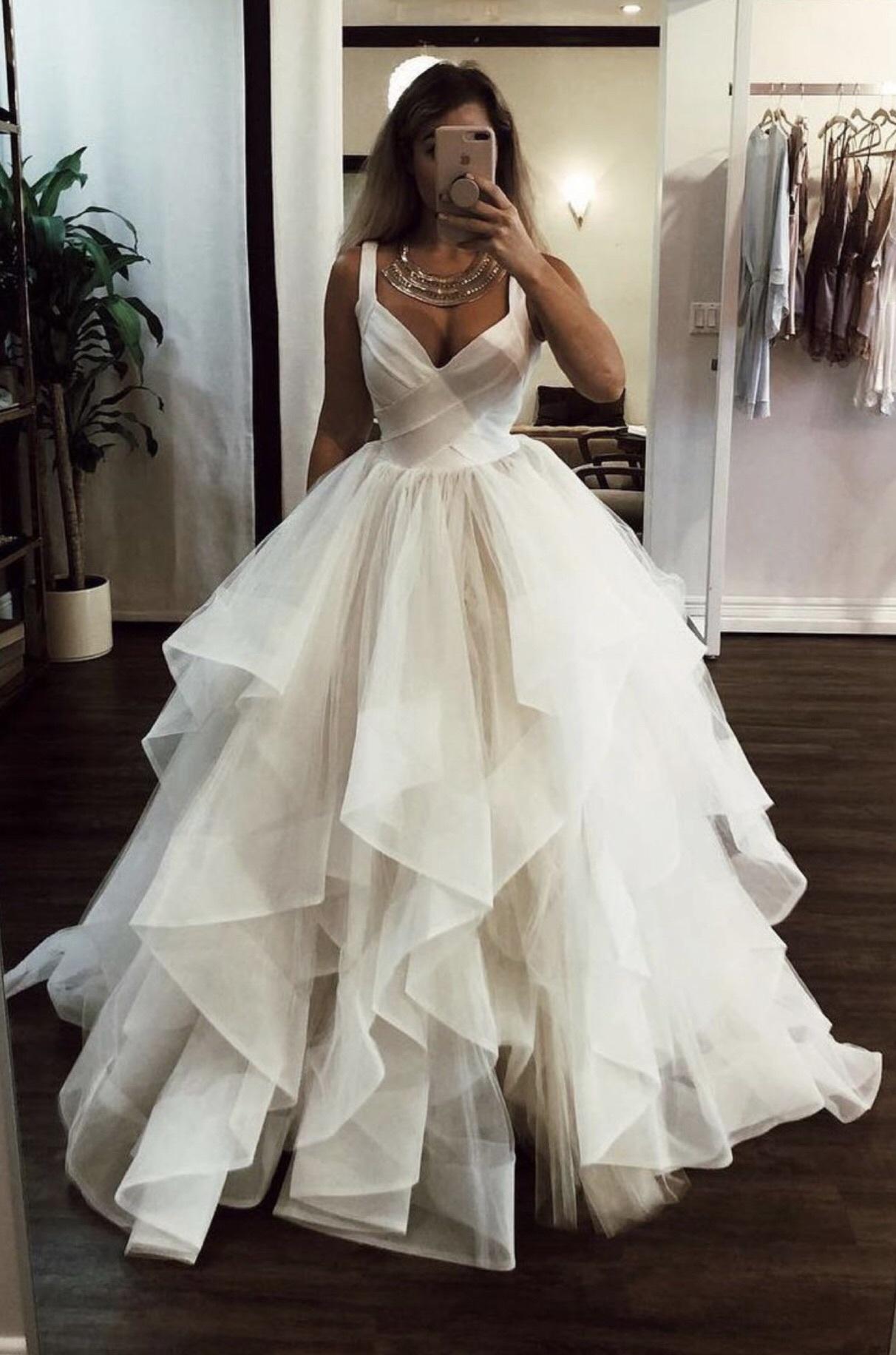 f437ec1983 White Floor Length Wedding Dresses