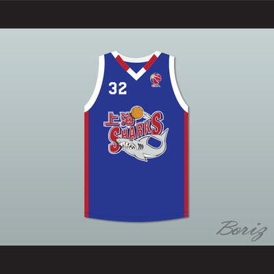 8b45515fe59b Jimmer fredette 32 shanghai sharks alternate blue basketball jersey with  cba patch - Thumbnail 2