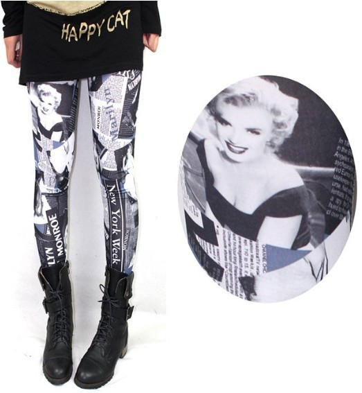 93361e441b988 Free shipping hot sale new women s 2013 fashion europe america sexy thin marilyn  monroe print