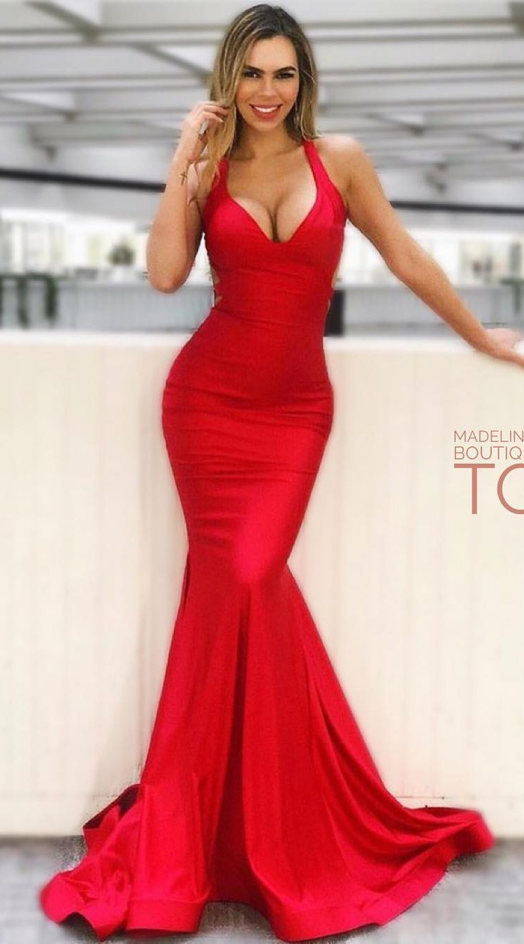 Red Wedding Dresses.Sexy Mermaid Evening Dress Mermaid Red Formal Dress From Sancta Sophia