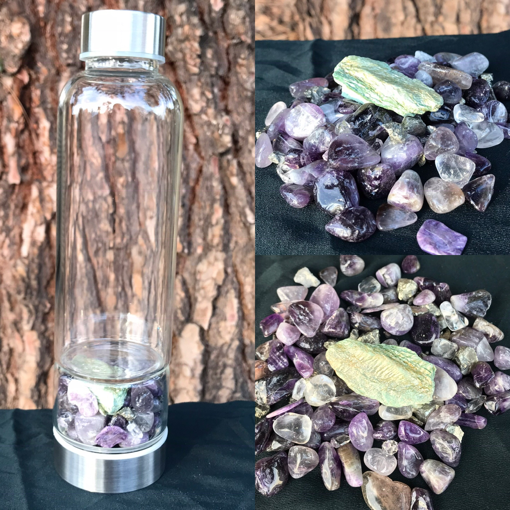Custom Crystal Elixir Water Bottle sold by Moon Worm Crystals