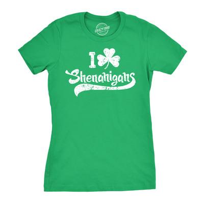 0913d962f ... Womens i clover shenanigans t-shirt funny irish clover shamrock tee for  women